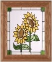Silver Creek Art Glass A059 Sunflower Pair Vertical Panel
