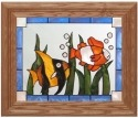 Silver Creek Art Glass A062 Tropical Fish Panel