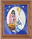 Silver Creek Art Glass A103 Nativity in Oval Vertical Panel