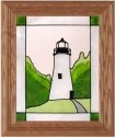 Silver Creek Art Glass A203 Lighthouse Vertical Panel