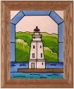 Silver Creek Art Glass A208 Ashl & WI Vertical Panel