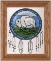 Silver Creek Art Glass A210 Buffalo Dreamcatcher Vertical Panel