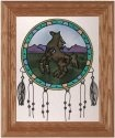 Artistic Gifts Art Glass A212 Horse Dreamcatcher Vertical Panel