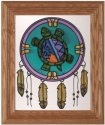Silver Creek Art Glass A214 Turtle Dreamcatcher Vertical Panel