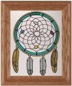 Artistic Gifts Art Glass A216 Beaded Web Vertical Panel