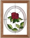 Silver Creek Art Glass B002 Rose Panel