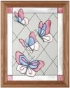 Artistic Gifts Art Glass B003 Blue & Pink Vertical Panel