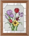 Silver Creek Art Glass B006 Flower Bouquet Vertical Panel