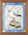 Artistic Gifts Art Glass B015 Seagull Vertical Panel