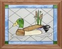 Artistic Gifts Art Glass B016 Mallard Duck Horizontal Panel