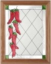 Artistic Gifts Art Glass B024 Chili Peppers Vertical Panel