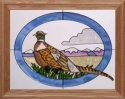 Artistic Gifts Art Glass B031 Pheasant Horizontal Panel