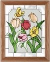 Silver Creek Art Glass B037 Garden Vertical Panel