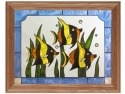 Silver Creek Art Glass B041 Tropical Fish Panel