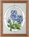 Silver Creek Art Glass B046 Texas in Oval Vertical Panel