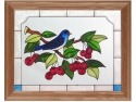 Artistic Gifts Art Glass B060 Bluebird Panel