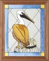 Artistic Gifts Art Glass B080 Pelican Vertical Panel