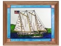 Silver Creek Art Glass B088 Schooner Panel