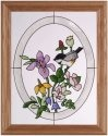 Artistic Gifts Art Glass B090 Chickadee Vertical Panel