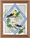 Artistic Gifts Art Glass B092 Goldfinch in Diamond Vertical Panel