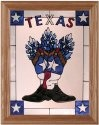 Silver Creek Art Glass B222 Texas Boots Vertical Panel