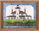 Silver Creek Art Glass B234 Raspberry Island WI Horizontal Panel