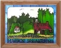 Silver Creek Art Glass B238 Harbor Springs MI Horizontal Panel