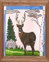 Artistic Gifts Art Glass B240 Buck in Meadow Horizontal Panel