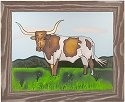 Silver Creek Art Glass B242 Texas Panel