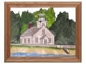 Silver Creek Art Glass B243 MI Old Mission Point Panel