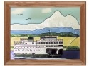 Silver Creek Art Glass B252 Ferryboat Panel