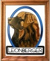 Silver Creek Art Glass BW187P Leonberger II profile Vertical Panel