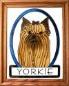 Artistic Gifts Art Glass BW203 Yorkie Yorkshire Terrier Vertical Panel