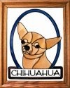 Silver Creek Art Glass BW244 Chihuahua Vertical Panel