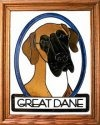 Silver Creek Art Glass BW260 Great Dane natural Vertical Panel
