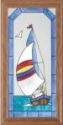 Silver Creek Art Glass C015 Sailboat Vertical Panel