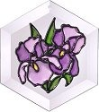 Silver Creek Art Glass E003 Purple Iris Hex Suncatcher