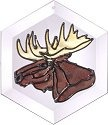 Artistic Gifts Art Glass E066 Moose Hex Suncatcher