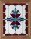 Silver Creek Art Glass H010 Baroque Geometric Vertical Panel