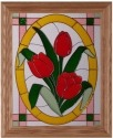 Silver Creek Art Glass H017 Tulips Panel