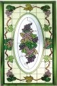 Silver Creek Art Glass P204 Victorian Purple Vertical Panel