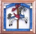 Artistic Gifts Art Glass Q010 Carousel Panel