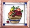 Silver Creek Art Glass Q021 Fruit Bowl Panel