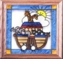 Silver Creek Art Glass Q022 Noah's Ark Panel