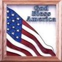Silver Creek Art Glass Q028 God Bless America Panel
