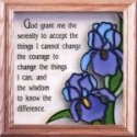 Silver Creek Art Glass S002 Serenity Prayer Panel
