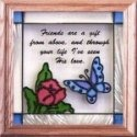 Artistic Gifts Art Glass S003 Friends are a Gift Panel