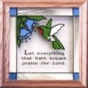 Artistic Gifts Art Glass S004 Praise the Lord Panel