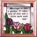 Silver Creek Art Glass S007 Marriage is Like a Garden Panel