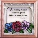 Silver Creek Art Glass S008 Garden A Merry Heart Panel